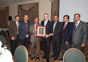 4/20/16658 DR 26 Ser TOH Tax Receiver Donald Clavin receives recognition for his outstanding community service from the Board of Trustees of the Assoc. of Physicians of Indian Origin, Queens & Long Island, At Akbar Restaurant in Garden City. L-R Dr. Abhay Malhotra 149-45 Northern Blvd Flushing 11354 Dr. Rakesh K. Dua  149-45 northern Blvd. flushing 11354 President AAPIQLI Dr. Vaijinath Chakote 149-45 Northern Blvd Flushing 11354 Tax Receiver Clavin  Dr. Sunil Mehra 2168 Bellasonia CT Muttontown 11791 Dr. Jagan Pahuja 149-45 Northern Blvd Flushing 11354 Dr. Krishan Kumar Past President AAPIQLI 149-45 Northern Blvd. Flushing 11354