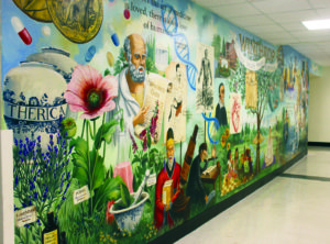 The new mural outside of Winthrop University's Neonatal Intensive Care Unit that was donated by Jim and Ellen Riley of Garden City