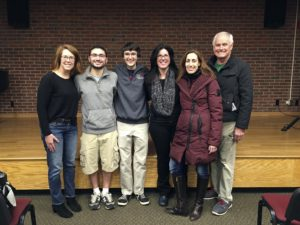 Brendan Quinn and Joseph Ienna with board members of the Garden City Friends of STEM.