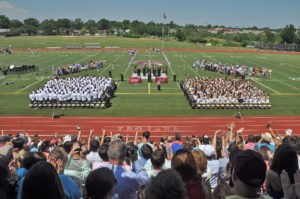 Upon Principal McLaughlin's pronouncement of their graduation, the Class of 2016 received a standing ovation from the crowd of elated parents, family, and friends.