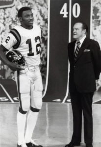 Doug Williams (left) and Bob Hope