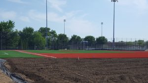 New synthetic turf fields were  also part of the field renovation.