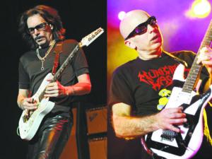 Steve Vai (left) and Joe Satriani (right)