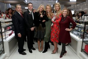 From left: Garden City Mayor Nicholas Episcopia, Garden City Lord & Taylor Store Manager Tim Catalano, Christie Brinkley, Sailor Brinkley Cook , Beth Ostrovsky Stern and Lord & Taylor President Liz Rodbell. (Photo by Cindy Ord/Getty Images for Lord & Taylor)