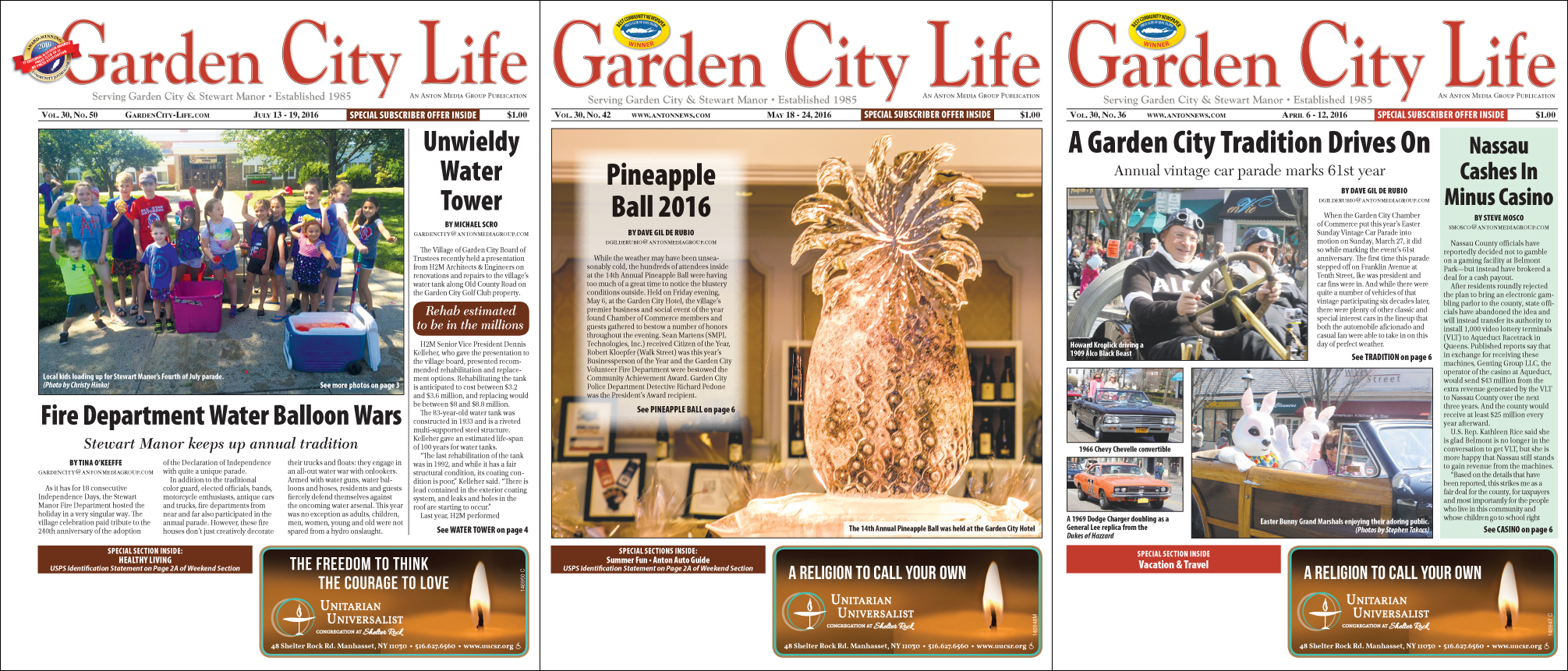 Garden City Life Acknowledged For Cover Design At Nypa Garden City Life