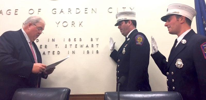 Fire Lieutenants Take Their Oaths Garden City Life